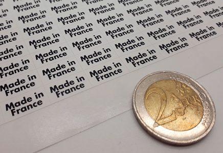 Etiquettes adhésives en planches très petits formats